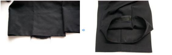 ズボン裾やぶれ修理
